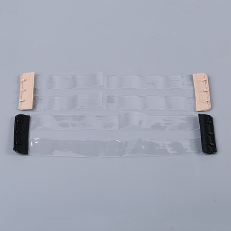 Women New Silicone Non Slip Buckle Clear Bra Straps Invisible Transparent Bra Strap Backless Elastic Bra Extender Shoulder Strap