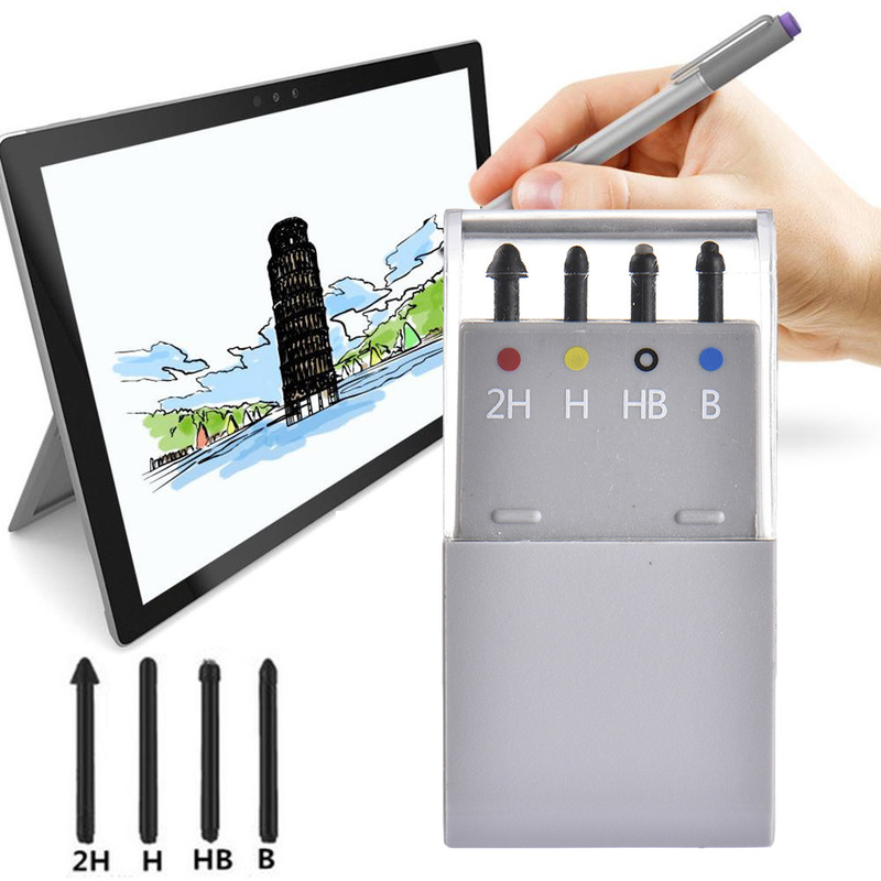 Professional Stylus Touch Pen Tip Kit For Microsoft Surface Pro 6/5/4 / Book Tablet Spare Nib Tip Replacement Stylus 2H/H/HB/B