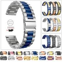 Edelstahl Metall Band für Garmin Venu GarminMove 3 Garmin Aktive Vivoactive 4 4S Armband Armband 20mm 22mm Handgelenk Gurt