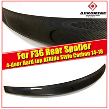 High Quality Carbon Fiber Spoiler For BMW F36 4 Series 4-doors Hard top 420 428 430 435 Ride Style Rear Wing Spoilers 2014-in