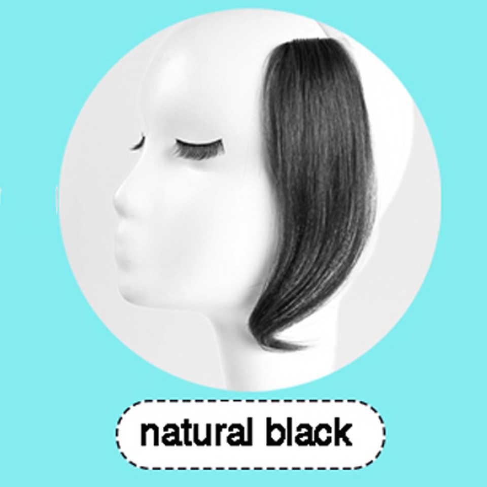 Allaosify 25 سنتيمتر 35 سنتيمتر 2 كليب في الانفجارات على الجبهة الشعر Fack بانغ الجانبية هامش الشعر الاصطناعية الانفجارات هيربيسي طويلة الانفجارات ملحقات