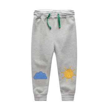 2021 chłopięce Spodnie dziecięce Spodnie dziecięce dziewczęce tęczowe Spodnie dresowe Enfant Pantalones jesienne Spodnie zimowe dziecięce Spodnie Roupas tanie i dobre opinie jumpingbaby Chłopcy COTTON POLIESTER 13-24m 25-36m 4-6y CN (pochodzenie) Wiosna i jesień REGULAR PATTERN Pełna długość