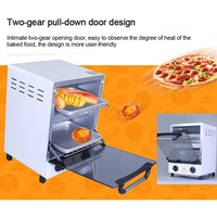 12L Electric Oven breakfast Maker Mini Home Vertical Baking Meat Sweet Potato bread pizza Ovens 0 60mins timing 220V/50Hz