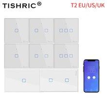 SONOFF T2 US/EU/Reino Unido TX luz inteligente de pared Panel de zócalo de Interruptor táctil/Wifi/433mhz/Eweilink/RF/APP Control remoto inalámbrico de Google