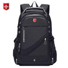 Оксфордский Швейцарский 17 дюймовый рюкзак для ноутбука, мужской водонепроницаемый рюкзак для путешествий с зарядкой через usb, женский рюкзак, Мужской винтажный школьный рюкзак mochila