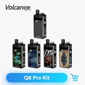 Volcanee Q8 Pro Pod Starter Kit 1620mAh Battery 4.5ml Pod Capacity 40W Wattage E-Cigarette Vape Pen Device Box Mod Kit
