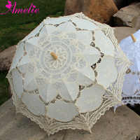 20 pcs/lot Free Shipping 100% Handicraft Cotton Lace Wedding Parasol