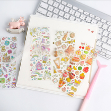 1sheet/pack Cute hot stamping transparent sticker Heart Cake Music Diy decoration Gifts for Girls