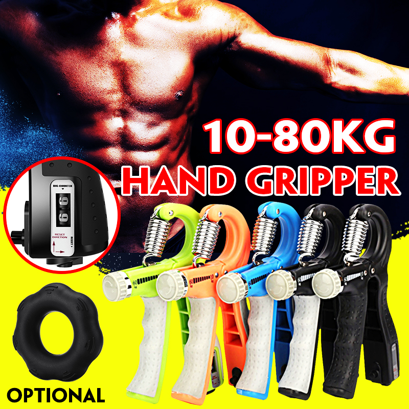 10-80Kg /50LB Adjustable Heavy Gripper Fitness Hand Exerciser Grip Wrist Increase Strength Spring Finger Pinch Carpal Expander