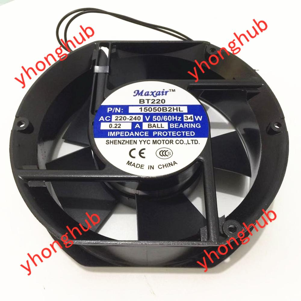 Maxair 15050B2HL AC 220V 240V 34W вентилятор охлаждения сервера