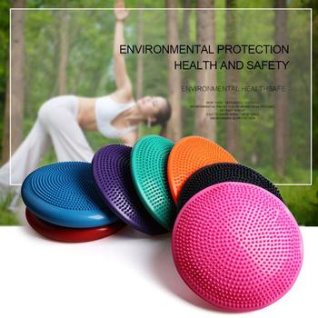 Balance Cushion Yoga Massage Cushion Balance Disk Cushion Thick Riot Yoga Balance Ball Stability Balance Disc Indoor Yoga Fitnes фото