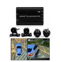 New 360 3D Car Birdview System 360 Seamless Surround View DVR With Front Rear Camera Two Adjustable Angle Lens Car Side Camera(China)