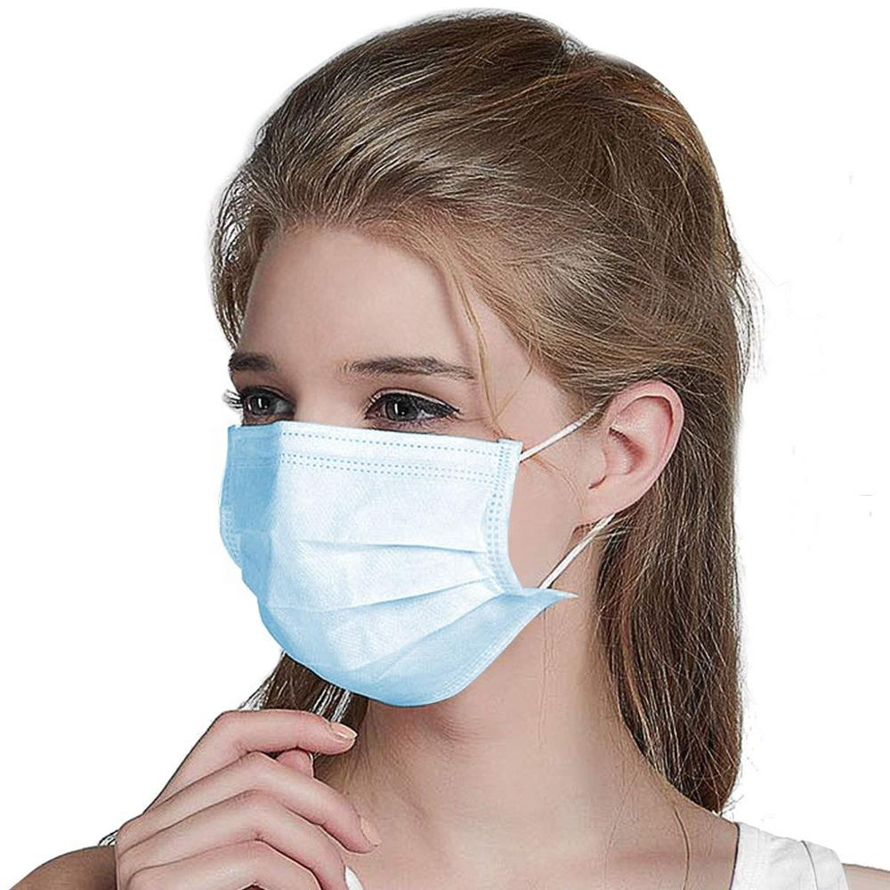 10/20/50/100Pcs 50pcs/1pcs Face Covers Disposable 3-layer Non-woven Dust-proof Protection Breathable Filter PM001