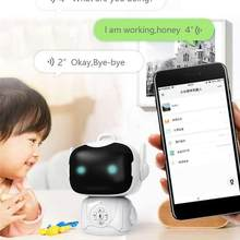 USB Rechargeable Intelligent Smart Robot Kids Voice Story Interactive Early Educational Toys Baby Children Learning Toys Machine(China)