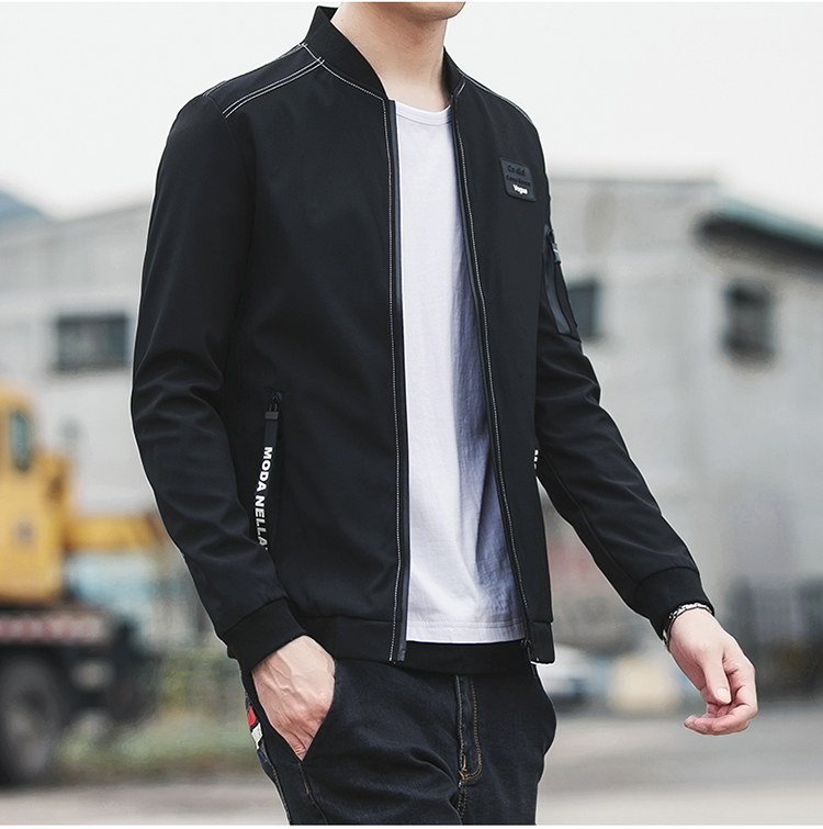 2019 Men's Fashion Jacket Coat Clothing Men Sweatshirt Hoodies Winter Casual Solid Color Plus Size  Jackets