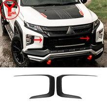 Pare-choc avant noir mat, garniture de protection, lèvre inférieure, adapté à la Mitsubishi L200 Triton 2019 2020 YCSUNZ