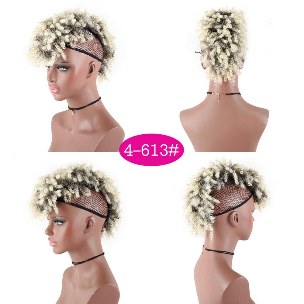 Deyngs Mohawk Sintético Cabelo Afro Crespo Curto