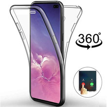 360 Full Cover Ponsel Case untuk Samsung Galaxy S20 Ultra S10 Plus S10e S9 S8 Catatan 10 9 8 A51 a71 A70 A40 A80 Aksesoris Silicone(China)