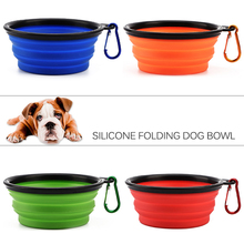 1PC New Folding Silicone Dog Bowl Travel for Portable Collapsible Foldable Outdoor Pet Cat Puppy Feeder