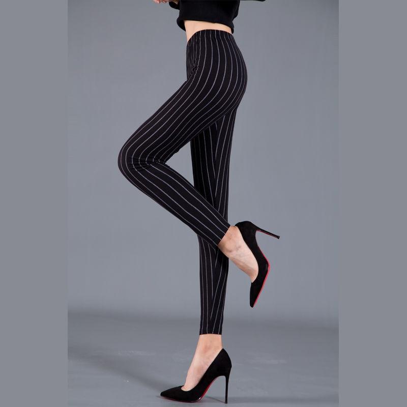 Women Plaid Leggings Fashion Printing Fitness Houndstooth Floral Stripe Dot Leopard Pure Black Trouser High Waist Pants 5