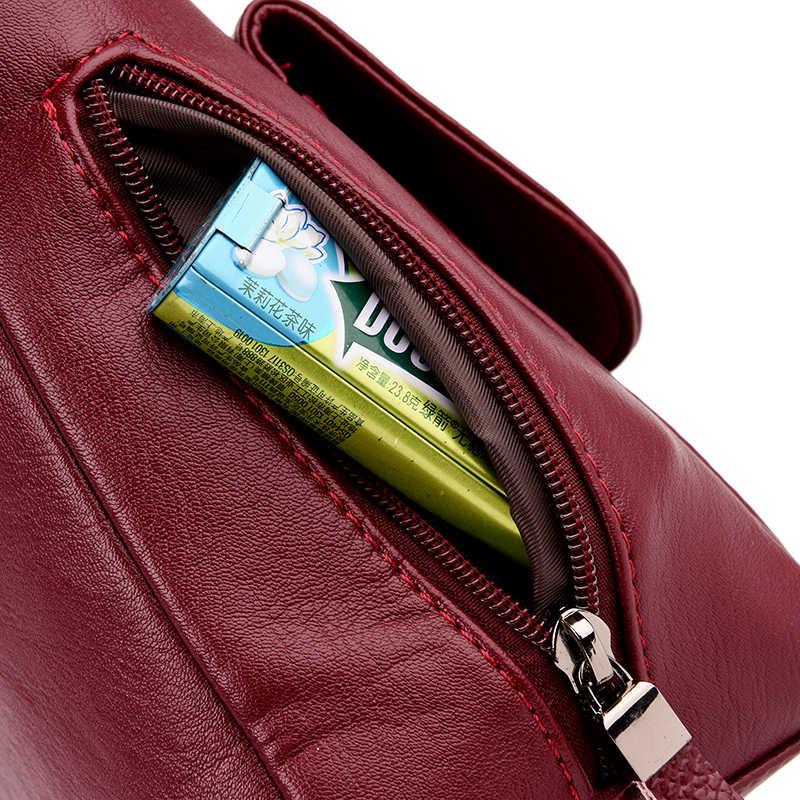 Style d'hiver 2019 Bolsas cuir souple sacs à main de luxe femmes sacs Designer multi-poches bandoulière sacs pour femmes Sac