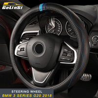 GELINSI For BMW 3 Series F30 2012 2018 Auto Car Styling Cow Leather Steering Wheel Cover Interior Accessories
