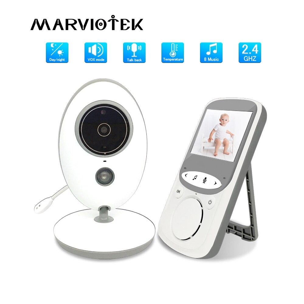 Радионяня с камерой, Беспроводная музыкальная видеоняня с ИК-камерой, мониторинг температуры, Радионяня VB605, детский телефон