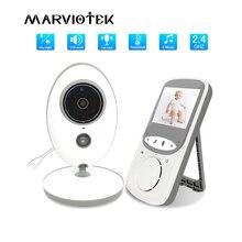 Niania elektroniczna Baby Monitor z kamerą bezprzewodową muzyką domofon IR Audio wideo kamery niania monitorowanie temperatury opiekunka do dziecka VB605 telefon dla dzieci