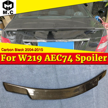 цена на W219 Rear Trunk Spoiler CArbon fiber C74 Style Fits For Mercedes Benz CLS Class CLS350 CLS400 CLS500 Tail Wings Spoiler 2004-10