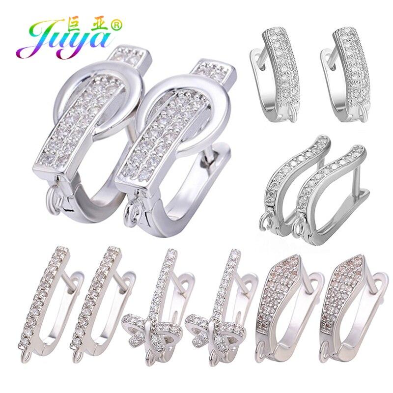 Серьги-Крючки для сережек Juya, золотистые/серебристые, для изготовления сережек ручной работы, Подвесные серьги с кисточкой