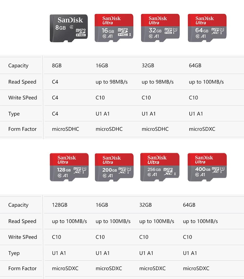 Sandisk Ultra Micro SD 128 GB 32 GB 64 GB 256 GB 16G 400 GB Micro Sd-kaart SD /TF Flash Card Geheugenkaart 32 64 128 gb microSD voor Telefoon 3
