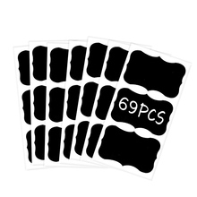 Blackboard sticker, medium fancy rectangle 69pcs/pack 2X3inch stationery decorative sticker kitchen cabinet organizer label