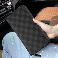 Luxury High end Brand Wallet Men's Leather Long Double Zipper Clutch Bag Fashion Wallet Casual Handbag Men and Women Wallet
