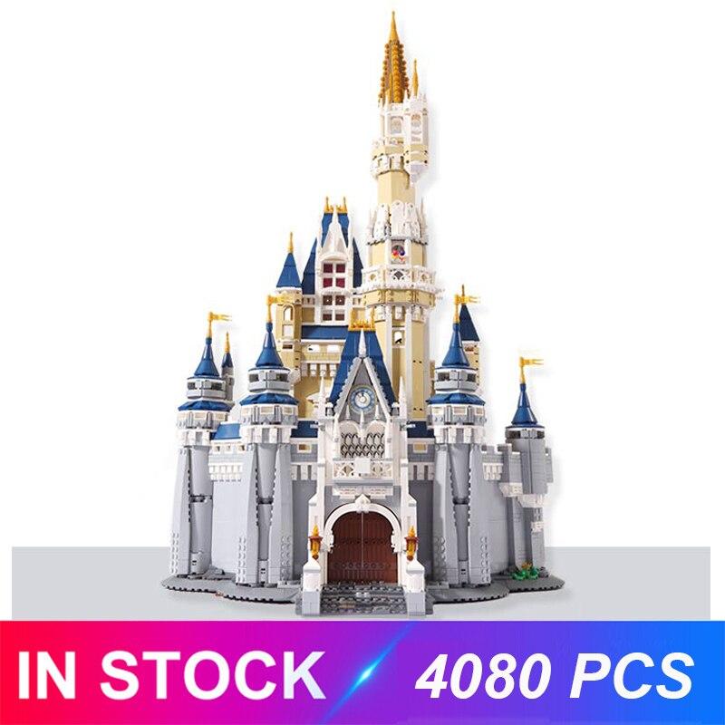 O castelo disneys compatível com 71040 16008 blocos de construção tijolos brinquedos educativos presentes aniversários para crianças