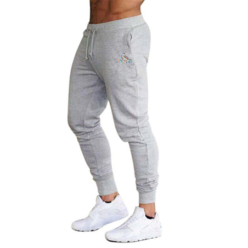 2020 spring and summer new fashion thin trousers men's casual pants jogging bodybuilding fitness perspiration limited time sport - XL, Beige