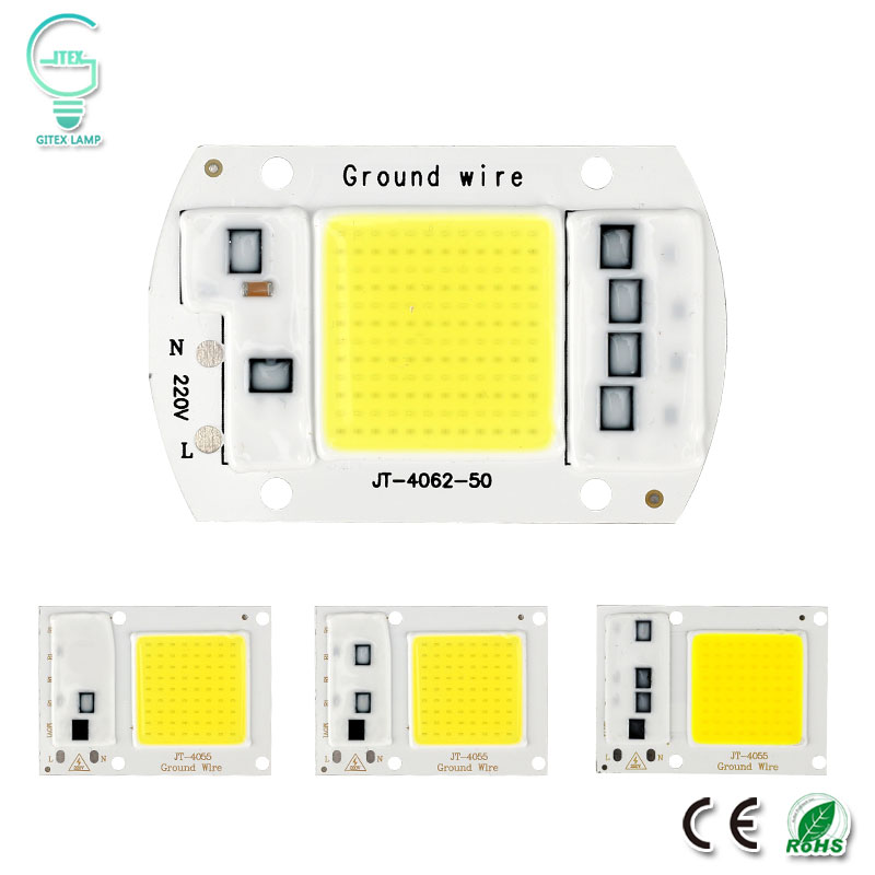 COB <font><b>LED</b></font> Lampe <font><b>Chip</b></font> Echt Power 10W 20W 30W 50W <font><b>LED</b></font> Lampe Birne <font><b>220V</b></font> 240V IP65 Smart IC Für DIY <font><b>LED</b></font> Flutlicht Scheinwerfer image