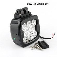 Bezpłatny statku 1pc 80W led światło robocze 24V super reflektory dla CAT Case N Holland JCB Komat ciężarówki ciągniki leśne