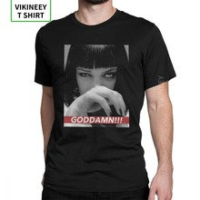 MIA WALLACE Quentin Movie Pulp Fiction Man's T Shirt Humor Cotton Short Sleeves Tee Shirt Crew Neck T-Shirt Newest Tops(China)