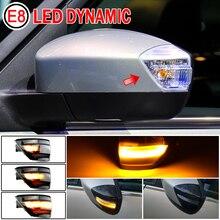 2X LED Dynamische Blinker Licht Seite Spiegel Sequentielle Blinker Anzeige Lampe Für Ford S Max 07 14 kuga C394 08 12 C Max 11 19