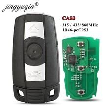 Jingyuqin carro remoto chave inteligente 315 mhz/433/ 868 mhz para bmw 1/3/5/7 série cas3 x5 x6 z4 carro keyless chip transmissor de controle