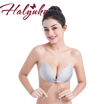 Women Sexy Stick Gel Silicone Push Up women's underwear Invisible Bra Self Adhesive Strapless Bandage Backless Solid Bra