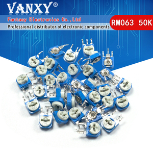 20pcs RM063 50k ohm blue and white can be adjusted resistance potentiometer 503