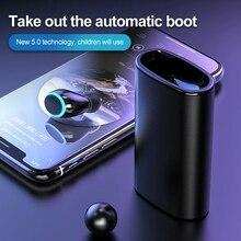 Беспроводной V5.0 Bluetooth наушники Водонепроницаемая гарнитура 6000 мАч Внешний аккумулятор с двойным микрофоном и 6000 мАч чехол для зарядки аккумулятора