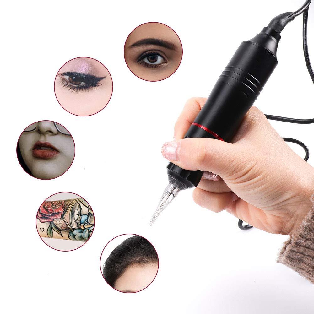 New Professional Tattoo Pen Rotary Machine Tattoo Gun with 50pcs Tattoo Cartridge Needles Permanent Makeup Machine Tattoo DC/RAC 6