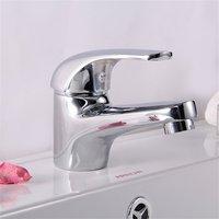 Домашний классический твердый латунный хромированный смеситель для раковины ванной комнаты, смеситель для воды, кран UK12/38 Серебряный