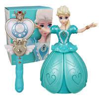Télécommande infrarouge princesse Elsa Anna jouet avec ailes figurine rotative danse Projection lumière musique poupée pour fille cadeau