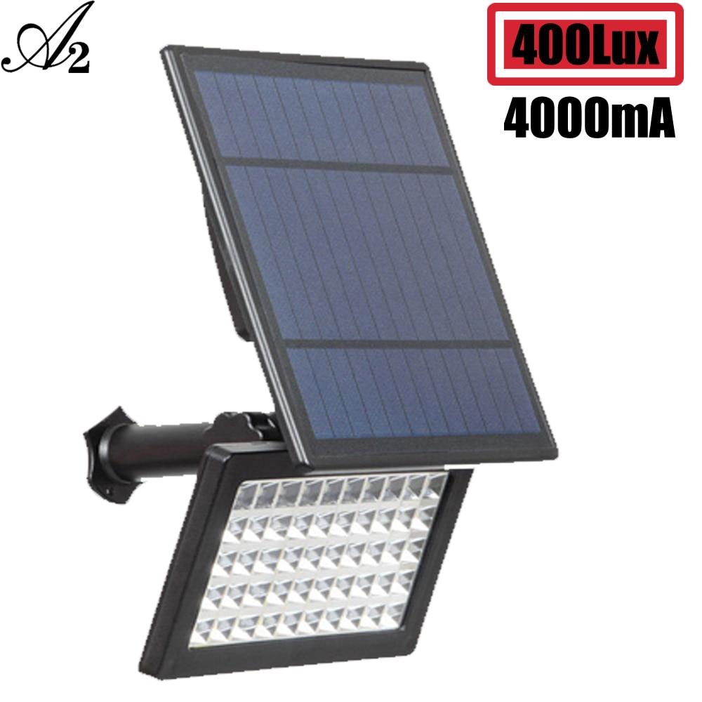 A2  Solar Panel Light Detachable LED Solar Lampsimple Super Bright 4000mA Battery Wireless Outdoor Garden Large