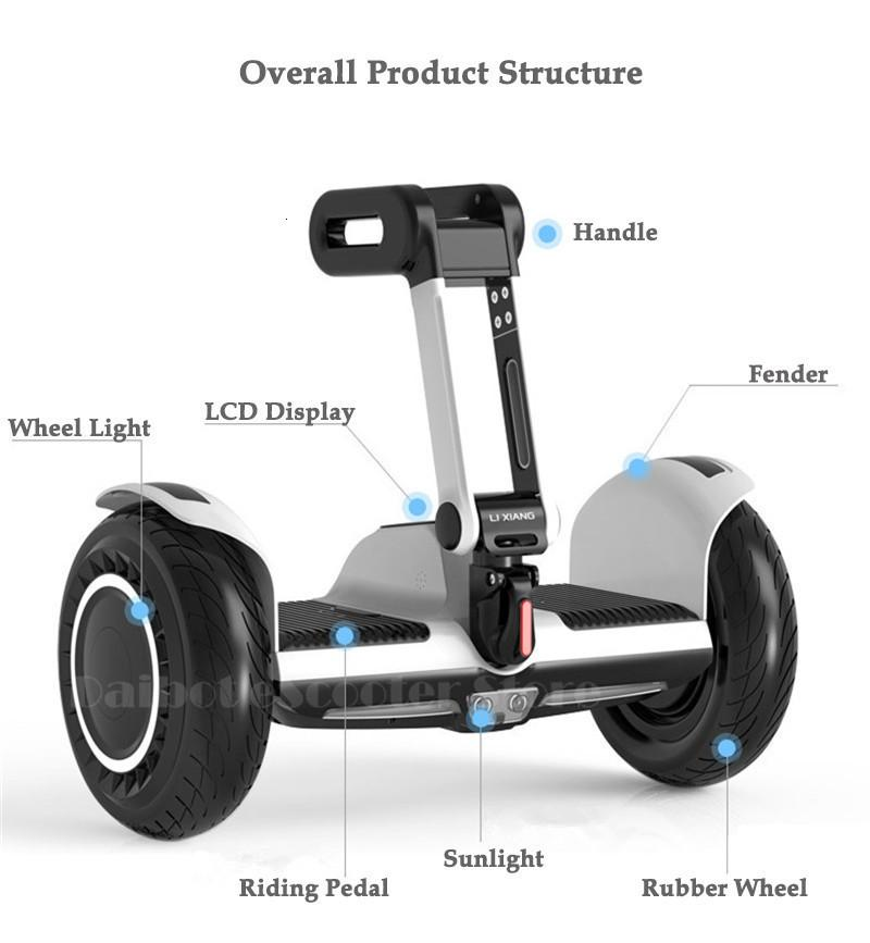 Daibot Portable Electric Scooter Self Balancing Scooters 10 Inch Off Road 250W2 36V Hoverboard For Kids APPBluetooth Speaker   (10)