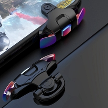 Phone Gamepad Joystick for PUBG Gaming Trigger Fire Button L1R1 Shooter Controller Colorful Metal m24 abs gaming trigger fire button mobile phone shoot controller universal phone gamepad trigger gaming parts