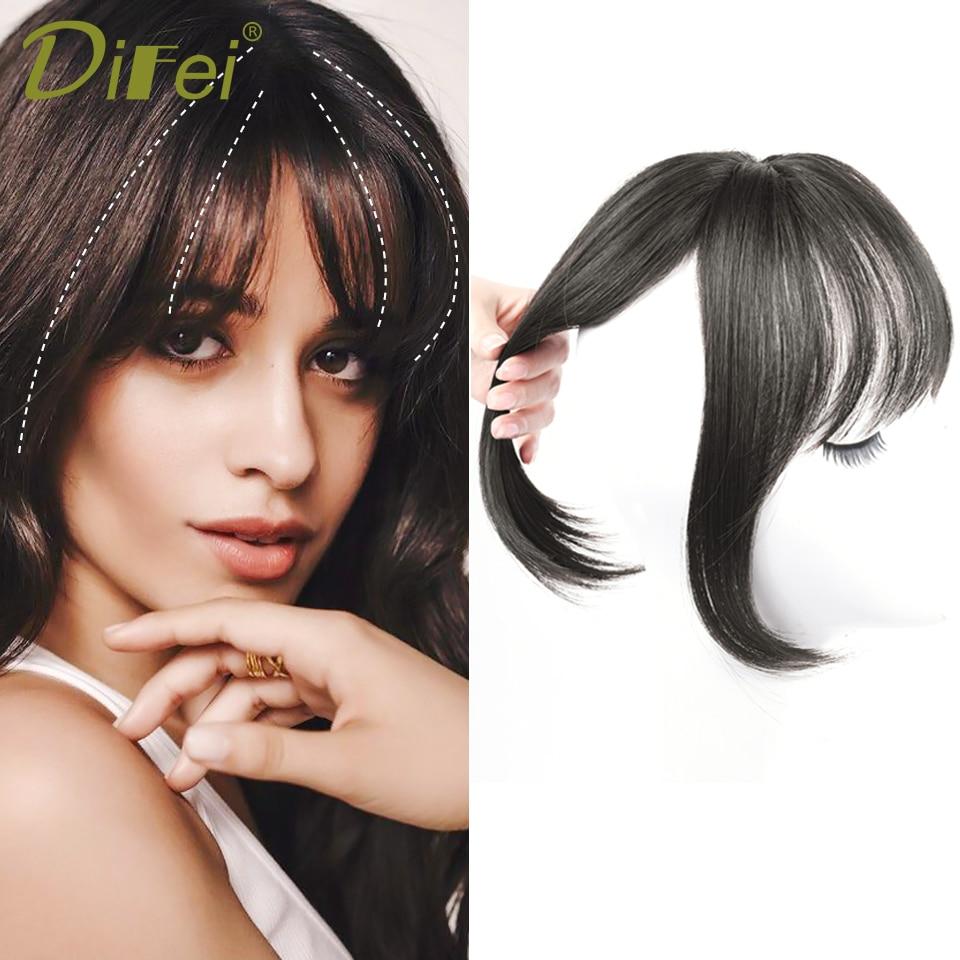 3D французская челка, синтетический зажим для волос, удлинитель волос с бахромой спереди, черные невидимые бесшовные накладные волосы для же...